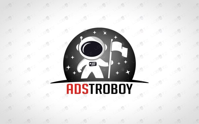 Astronaut Logo For Sale Premade Space Logo