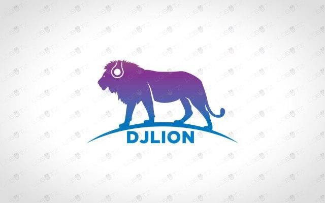 music logo music lion logo for sale dj logo