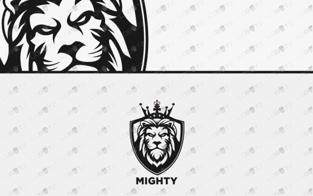 lion logo for sale premade lion crest logo