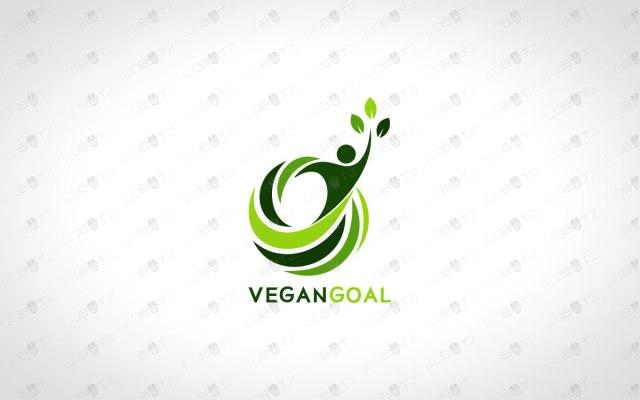 vegan logo for sale Natural Man Logo