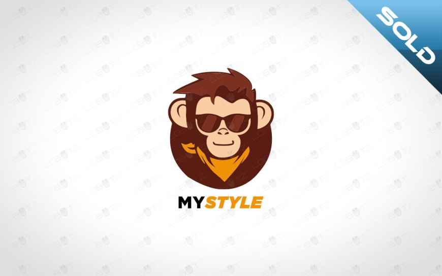 Monkey Logo For Sale premade style logo