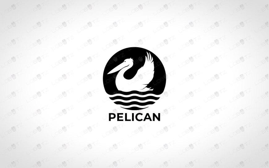 Modern Pelican Logo For Sale Premade Pelican Logo