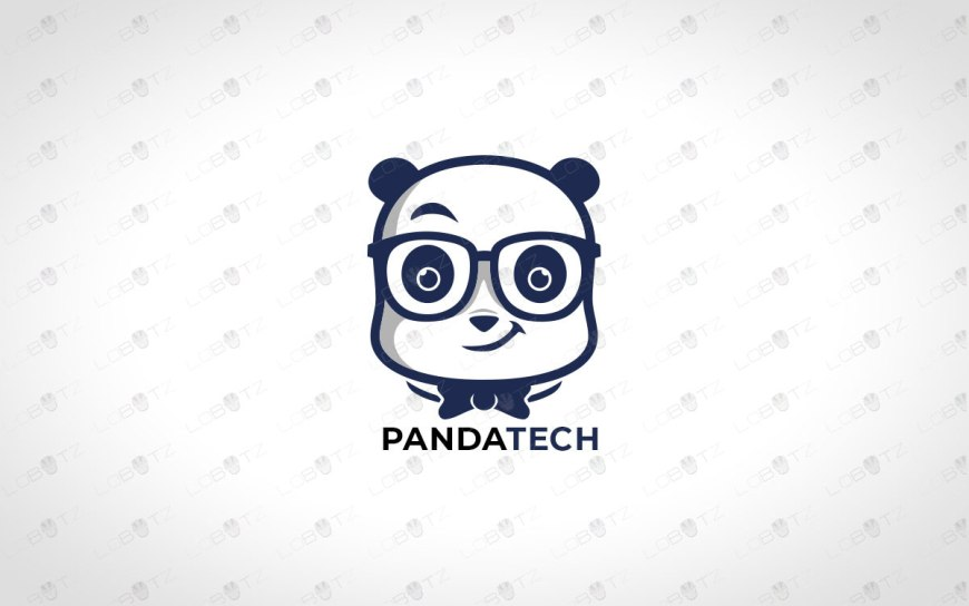 Tech Panda Logo For Sale Premade Panda Logo