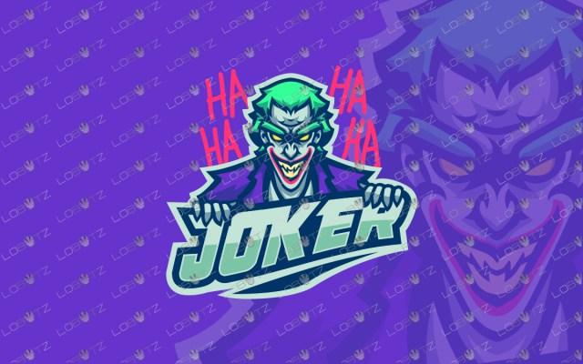 premade joker mascot logo joker esports logo