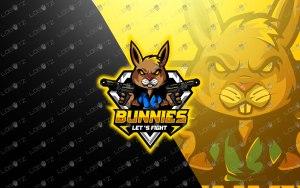 premade Bunny Mascot Logo For Sale Rabbit eSports Logo