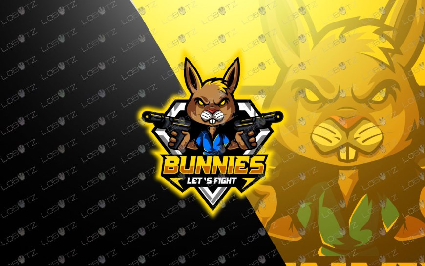 premade Bunny Mascot Logo For Sale Rabbit eSports Logo