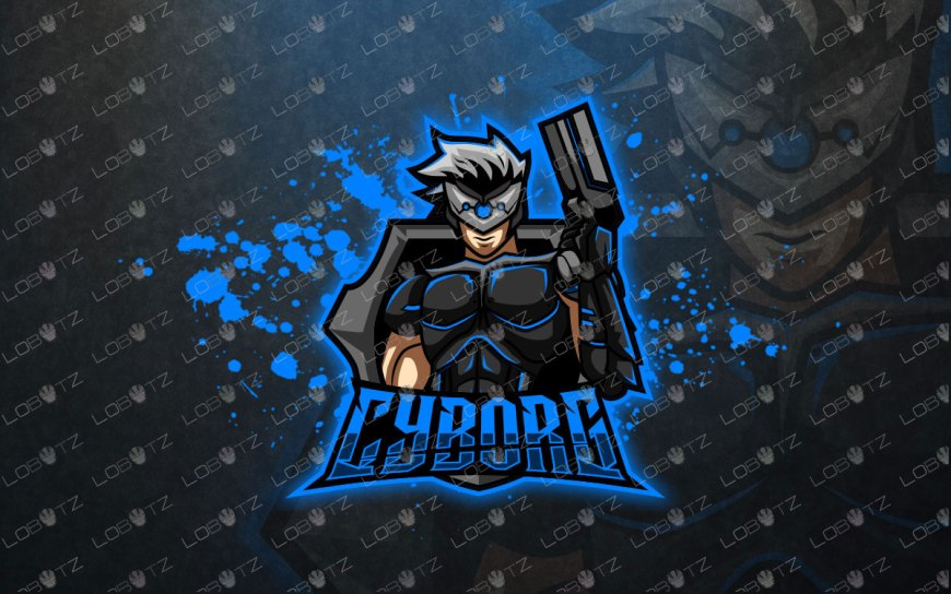 Cyborg Mascot Logo For Gamers premade Gaming eSports Logo