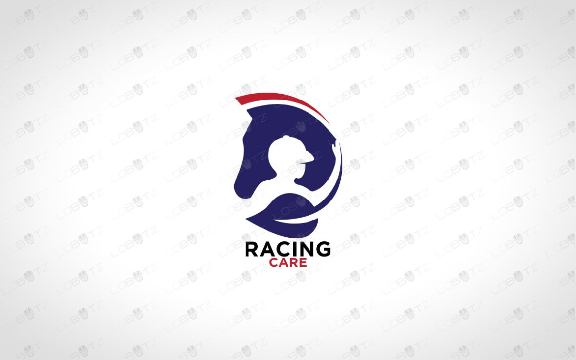 Minimalist Horse Logo Modern Horse Racing Logo For Sale