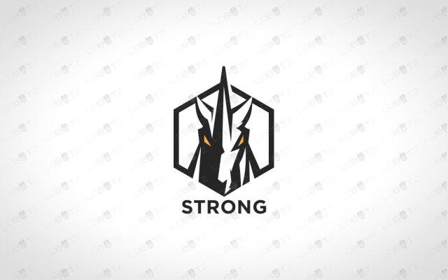 Strong Minimalist Unicorn Logo Strong Unicorn Logo For Sale