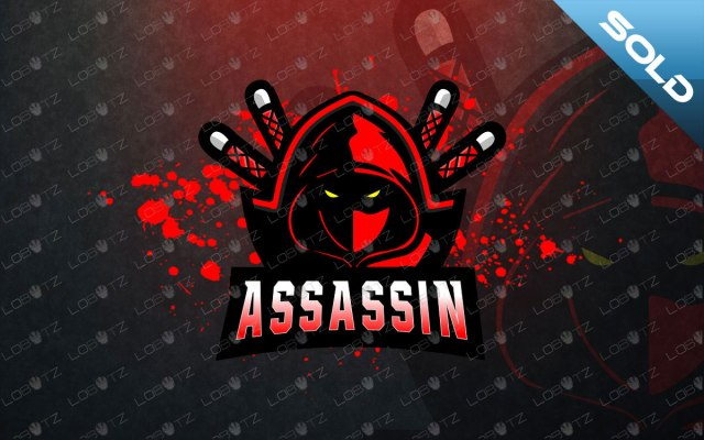 Assassin Mascot Logo For Sale   Ninja Mascot Logo premade logos