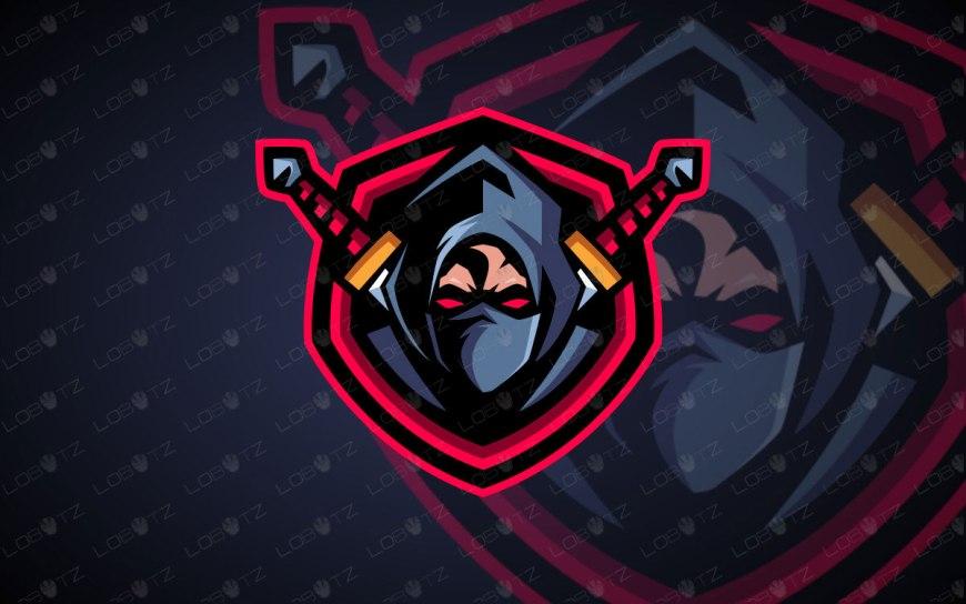 Assassin Mascot Logo For Sale   Ninja Mascot Logo