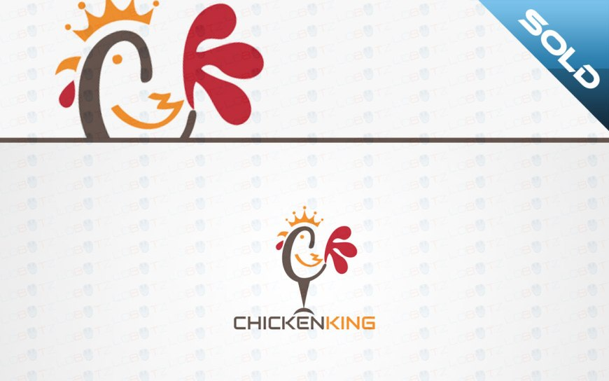chicken king logo for sale