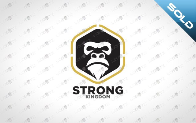 Minimalist Chimpanzee Logo   Strong Chimpanzee Logo For Sale
