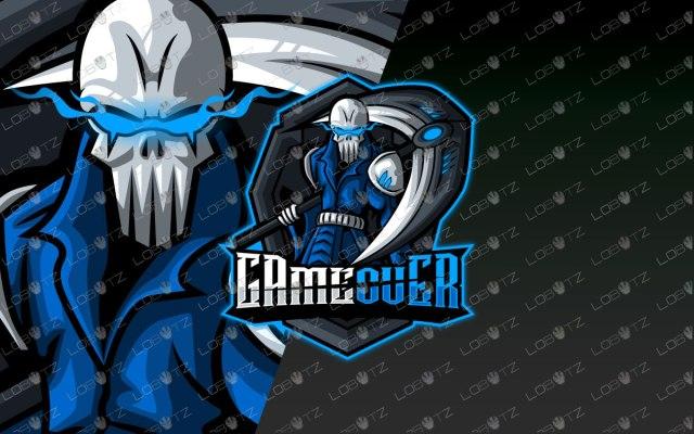 Grim Reaper Mascot Logo | Reaper eSport Logo For Sale premade logos