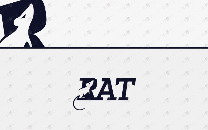 Rat Logo | Premade Rat Logo For Sale