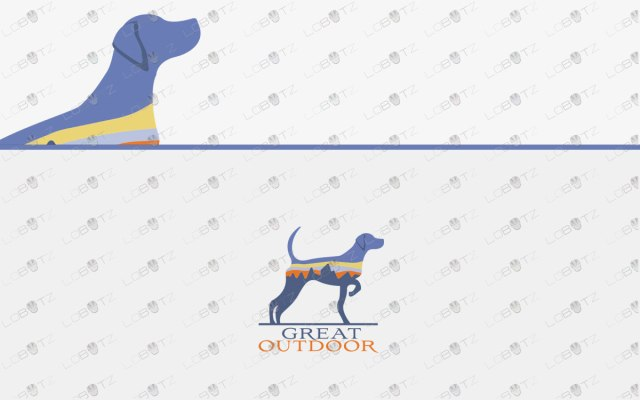 Premium Dog Logo For Sale Dog Outdoor Logo