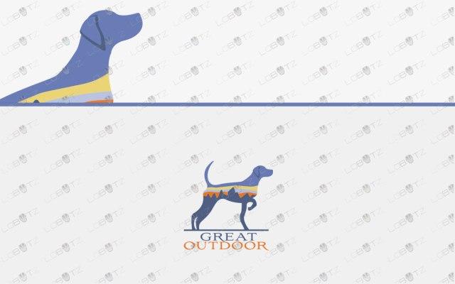 Premium Dog Logo For Sale Dog Outdoor Logo