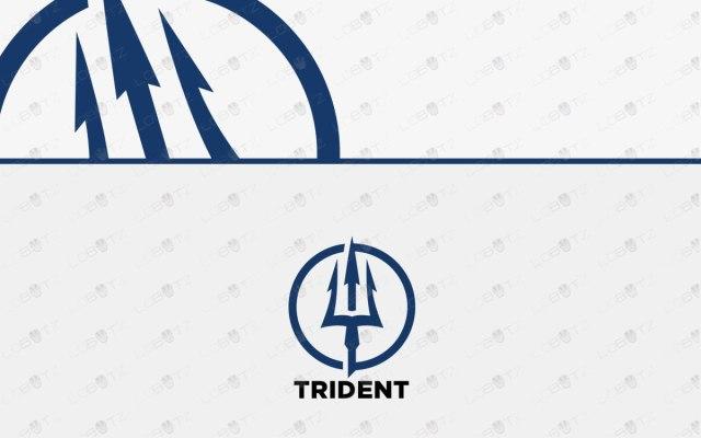 premade trident logo for sale neptune logo
