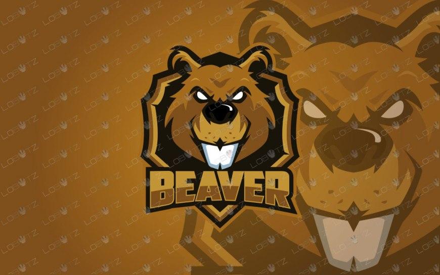 premade beaver mascot logo beaveresports logo