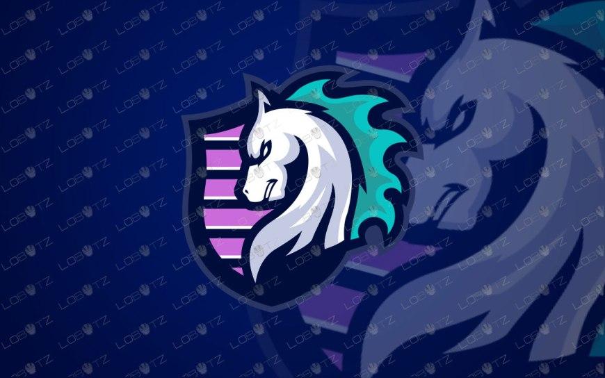 Shield Horse Mascot Logo For Sale | Horse eSports Logo