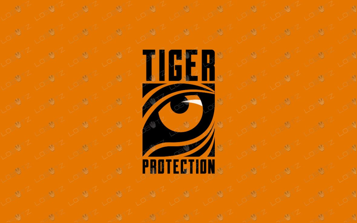 Modern Tiger Eye Logo For Sale | Premade Tiger Logo