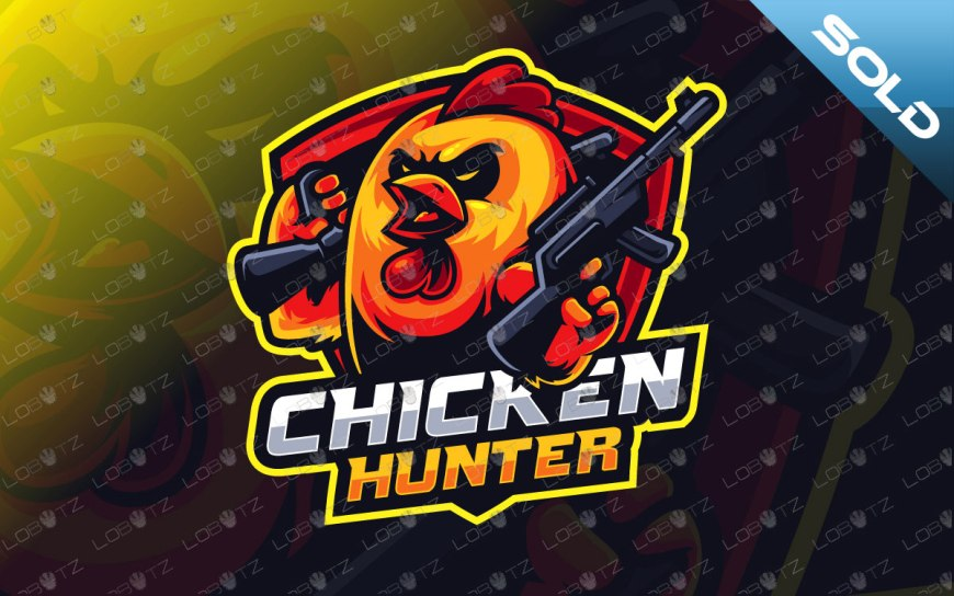 chicken hunter mascot logo chicken mascot logo