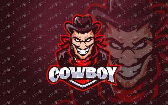 Cowboy Mascot Logo   Cowboy eSports Logo For Sale