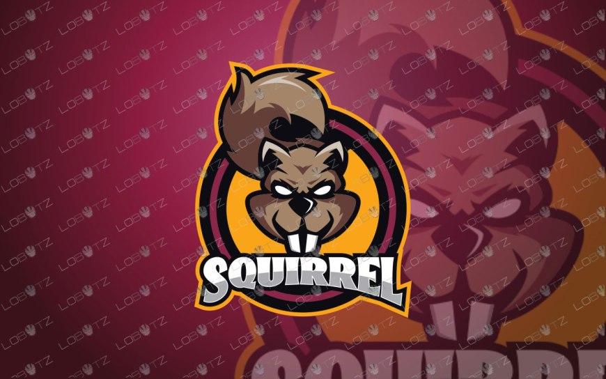 Squirrel Mascot Logo For Sale   Squirrel eSports Logo