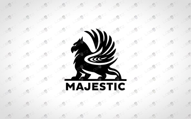 Majestic Griffin Logo For Sale   Premade Business Logo
