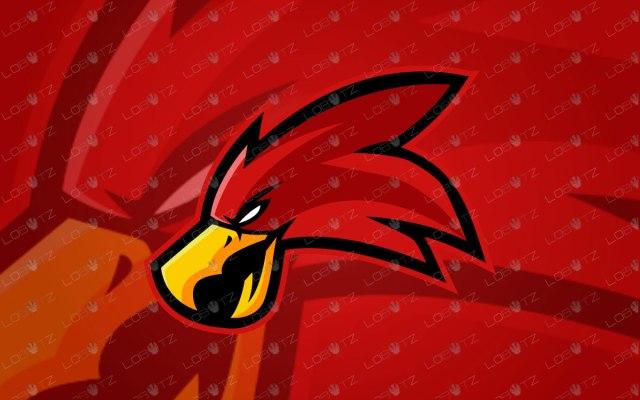 Red Hawk Logo Red Hawk Mascot Logo For Sale | eSports Logo