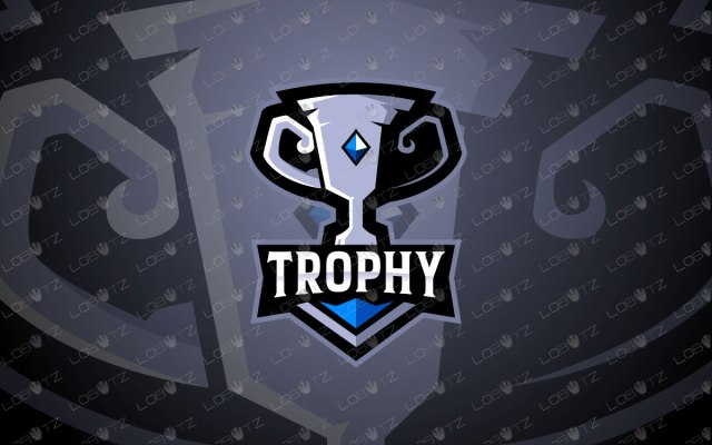 Premade Trophy Mascot Logo | Trophy Mascot Logo For Sale
