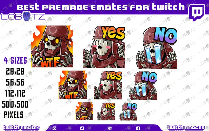 Apex Legends Revenant Emotes | Premade Twitch Emotes Revenant