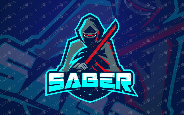 Light Sabre Mascot Logo For Sale   Premade Logos