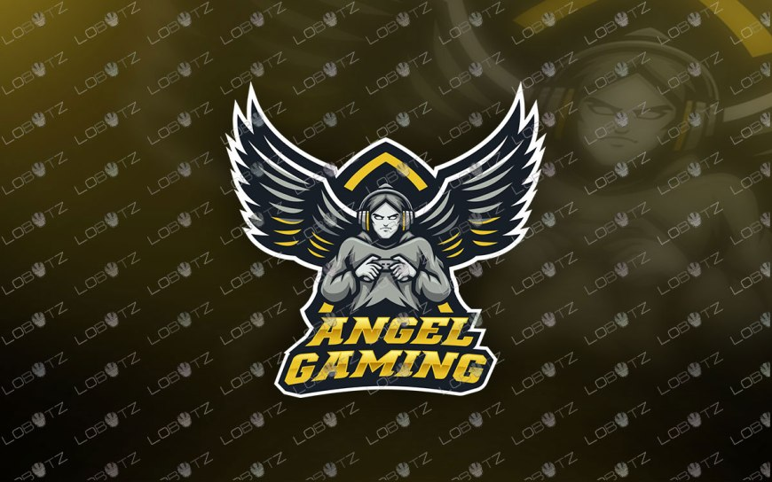 Angel Gamer Mascot Logo Gamer Angel Mascot Logo For Sale