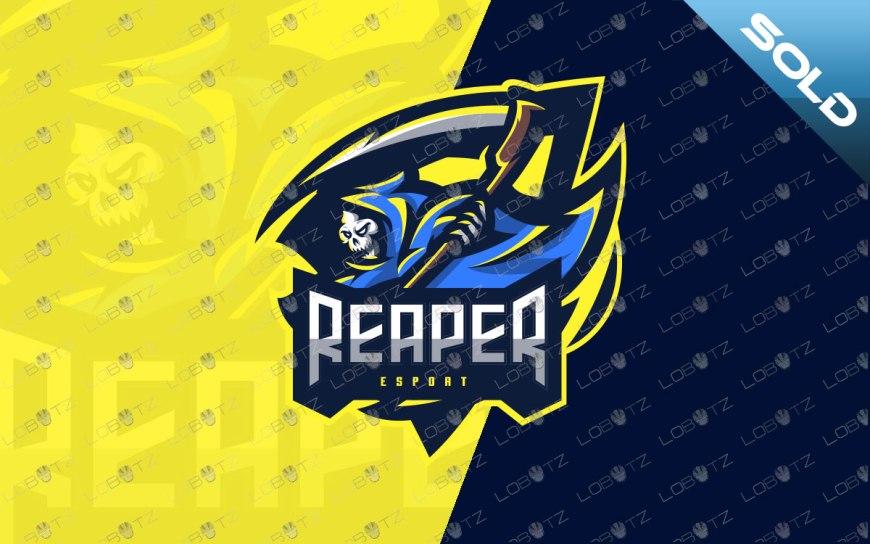 grim reaper esportslogo grim reaper mascot logo for sale premade