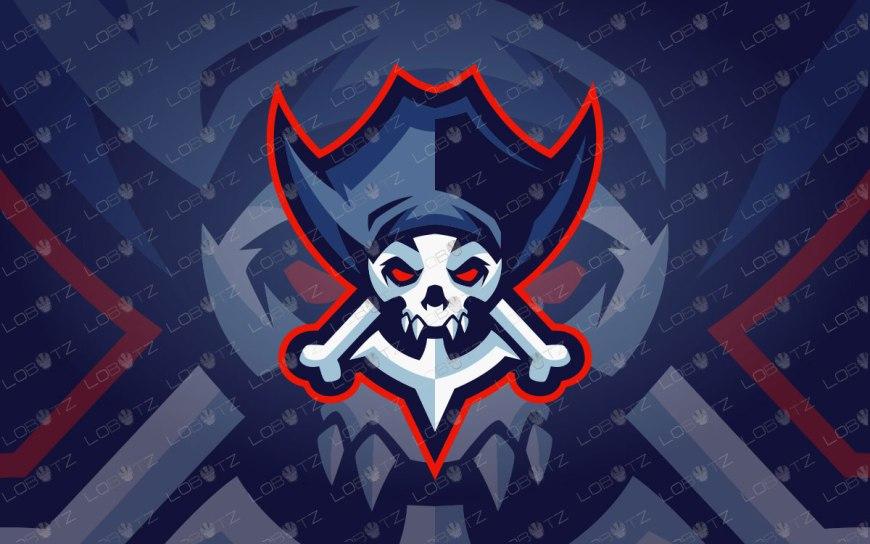 Pirate Skull Mascot Logo For Sale   Skull Pirate Mascot Logo