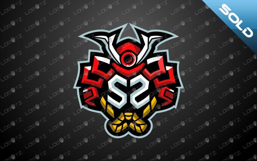 Letter S Samurai Mascot Logo | Samurai Mascot Logo | Letter S Clan Logo