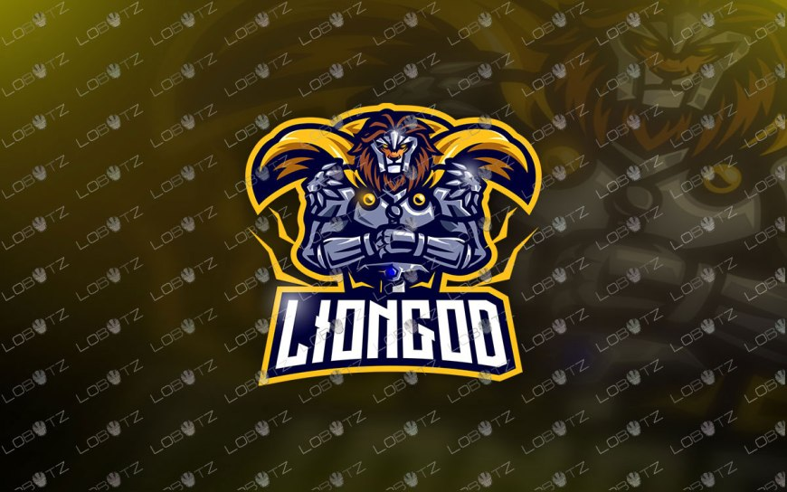 Lion Knight Mascot Logo | Lion Knight eSports Logo For Sale