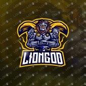 Lion Knight Mascot Logo | Lion Knight eSports Logo For Sale