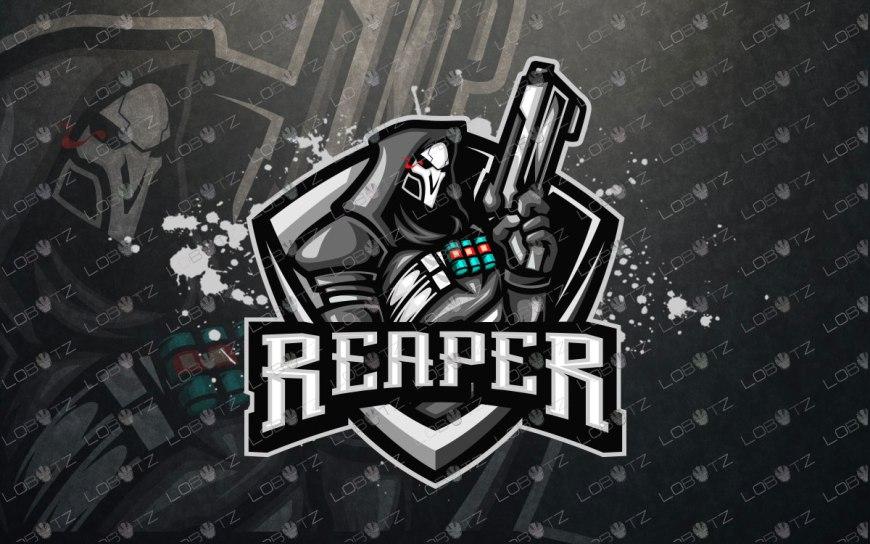 reaper mascot logo premade reaper esports logo overwatch reaper logo