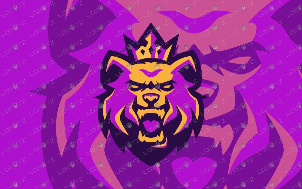 King Bear Mascot Logo For Sale Premade Bear ESports Logo