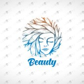 Beauty Logo | Beautiful Woman Face Beauty Logo For Sale