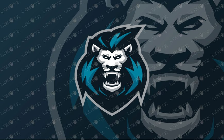 King Lion Mascot Logo | Premade Lion Mascot Logo For Sale