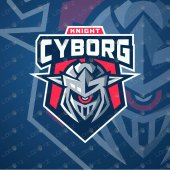 Premade Knight Mascot Logo | Cyborg Mascot Logo For Sale