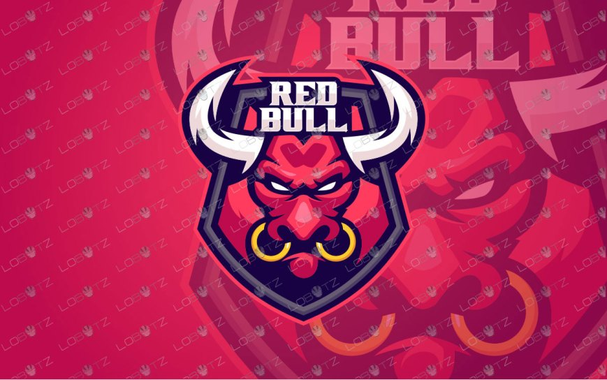 Red Bull Mascot Logo For Sale | Bull ESports Logo