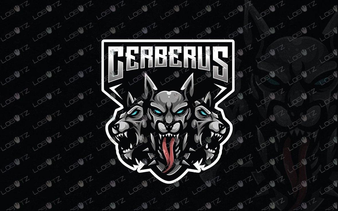 Cerberus Mascot Logo For Sale   Premade Gaming Logo