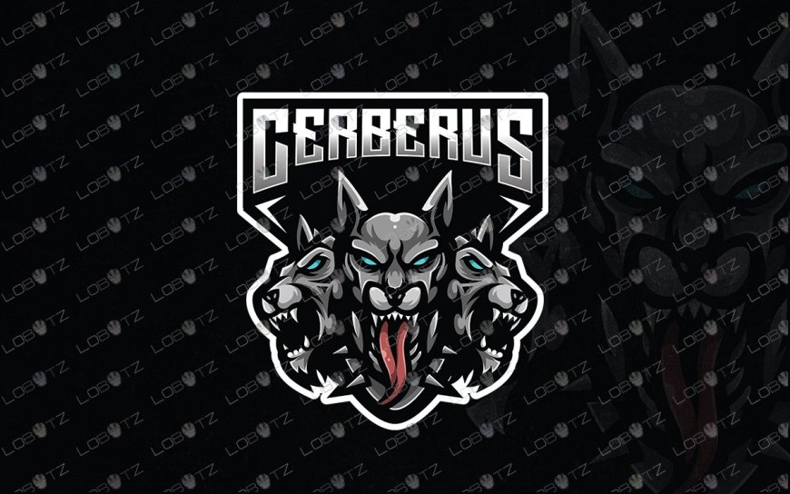 Cerberus Mascot Logo For Sale | Premade Gaming Logo