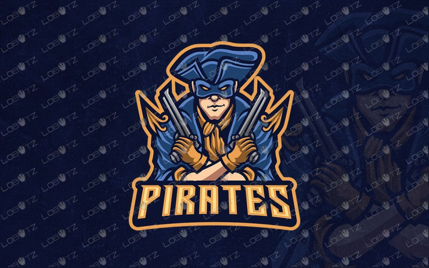 Gaming Logo | Premade Pirate Mascot Logo For Sale