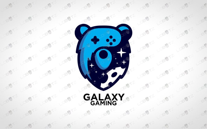 Galaxy Gaming Bear Logo For Sale | Gaming Logo