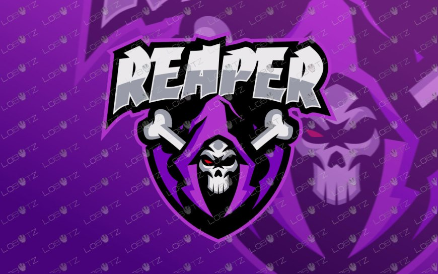 Grim Reaper Mascot Logo | Premade Reaper Mascot Logo For Sale